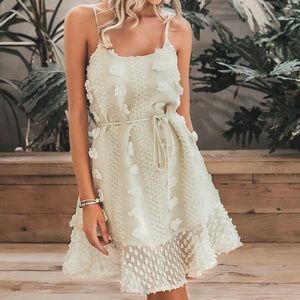 Dresses & Skirts - Polka dot ruffle hem slip dress